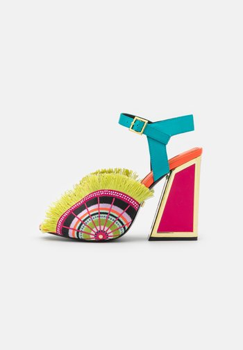 ARIEL - High heeled sandals - lagoon/multicolor
