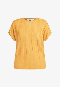 WE Fashion - MET VLEERMUISMOUWEN - Print T-shirt - ochre yellow - 5