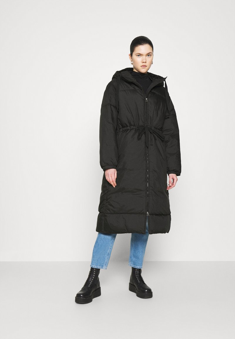 Weekday - ALLY LONG PUFFER - Winter coat - black