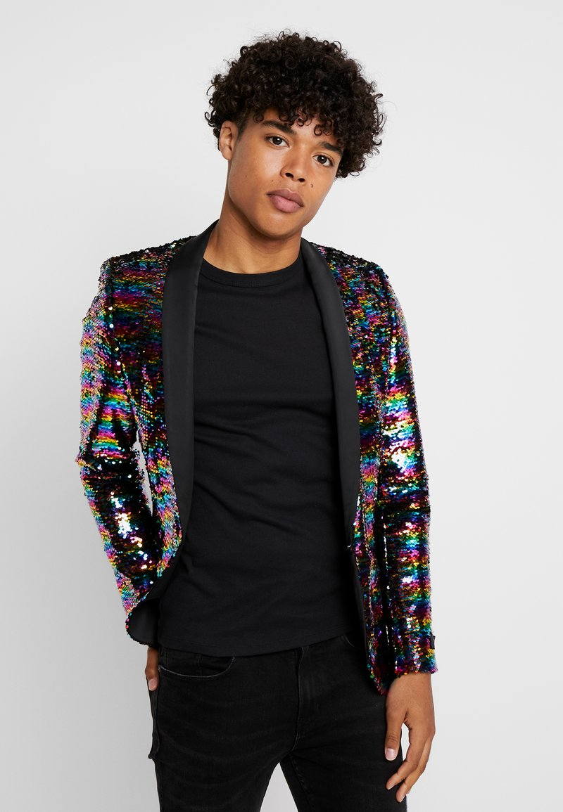 Twisted Tailor - LIQUORICE JACKET EXCLUSIVE PRIDE - Blazere - rainbow