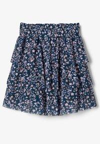 Name it - BLUMENPRINT  - A-line skirt - darkest spruce - 2