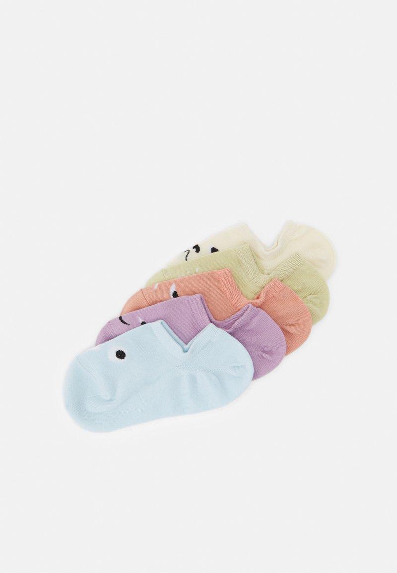 Monki - MIXED SNEAKER SOCKS SILICON GRIP 5 PACK - Socks - lilac/purple/dusty light mixed