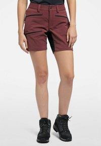 Haglöfs - Sports shorts - maroon red/true black - 0