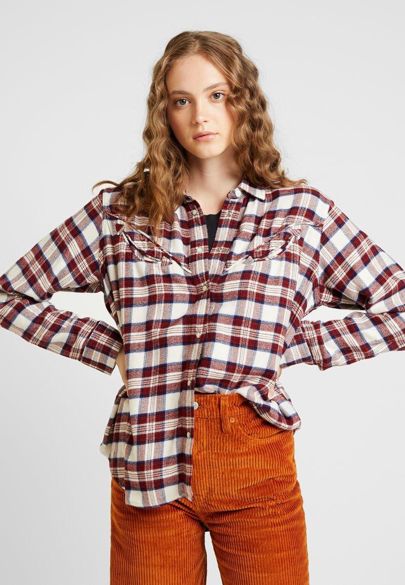 Levi's® - DORI WESTERN SHIRT - Button-down blouse - patridge herringbone_v2 sandshell