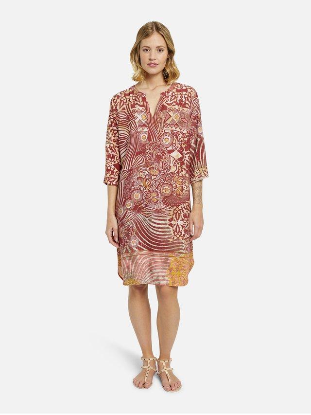Sukienka letnia - gold print