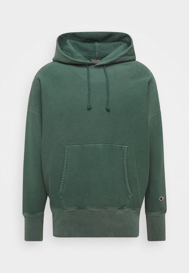 HOODED - Luvtröja - dark green