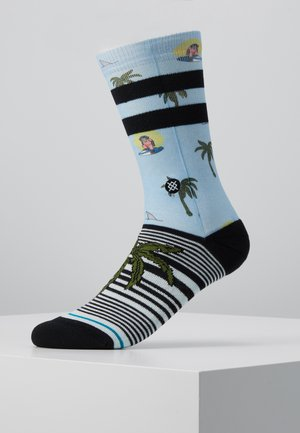 ALOHA MONKEY - Calcetines - lightblue