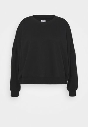 HARPER CREW NECK PULLOVER - Mikina - washed black