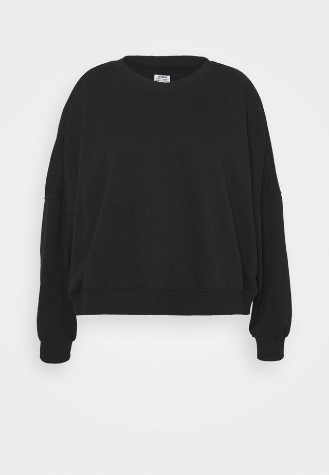 HARPER CREW NECK PULLOVER - Sweatshirt - washed black