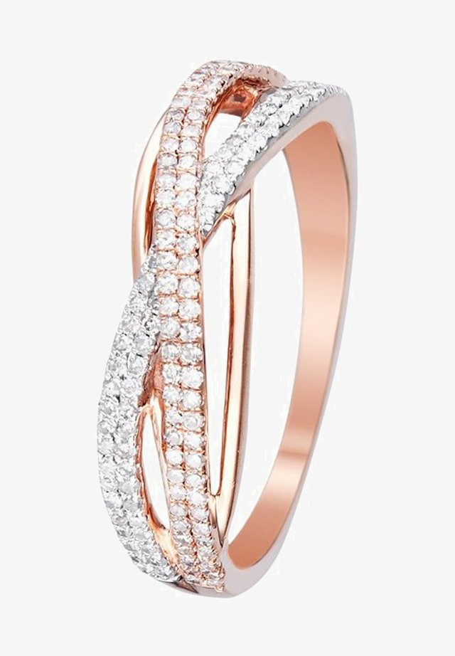 9K ROSE GOLD RING CERTIFIED 150 DIAMONDS HP1 0.31 CT - Bague - pink