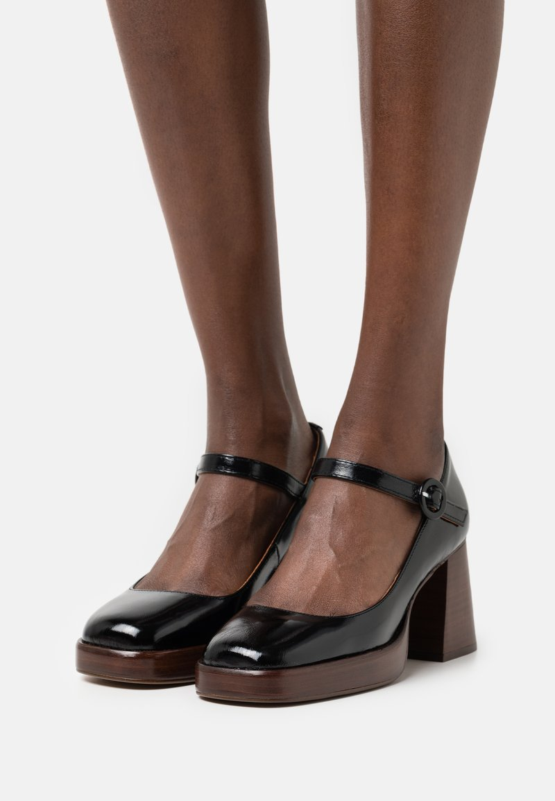 Jonak - BOUBOU - Platform heels - brillant noir