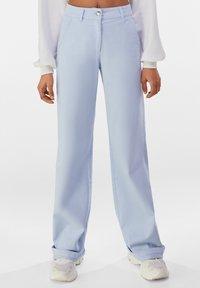 Bershka - Trousers - light blue - 0