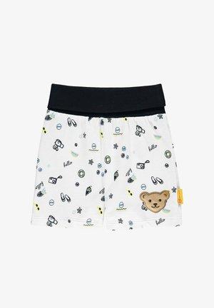 MIT SÜSSEM PRINT - Shorts - bright white