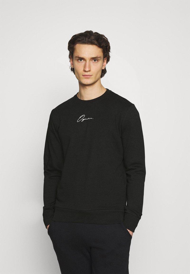 Jack & Jones - JORSCRIPTT CREW NECK - Sweatshirt - black