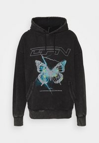 Good For Nothing - HOOD WITH ELECTRIC BUTTERFLY UNSIEX - Sweatshirt - black - 0