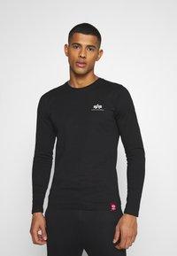 Alpha Industries - BACK PRINT HEAVY - Long sleeved top - black - 0