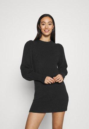 JUMPER DRESS - Strikket kjole - black