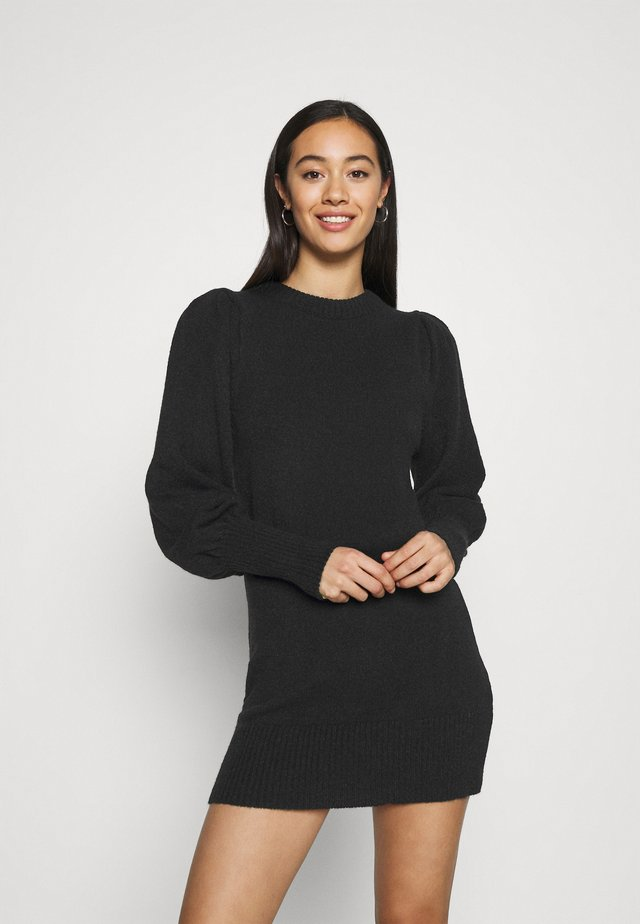 JUMPER DRESS - Sukienka dzianinowa - black