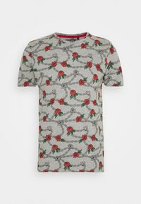 Brave Soul - CHAIN - Print T-shirt - grey marl - 4