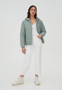 PULL&BEAR - Winter jacket - light green - 1