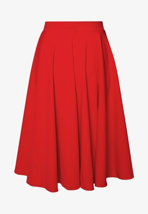MIDI FULL CIRCLE SKATER SKIRT - A-line skirt - red