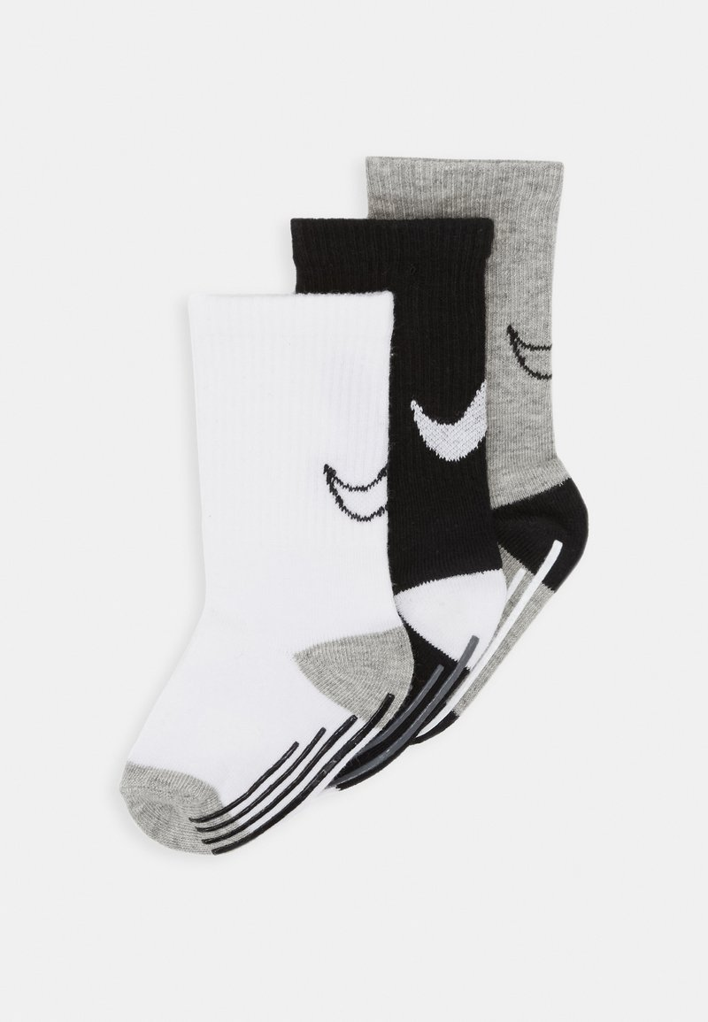 Nike Sportswear - TRACK GRIPPER 3 PACK - Sokken - dark grey heather