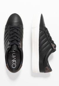 Calvin Klein - VANCE - Sneakersy niskie - black/brown - 3