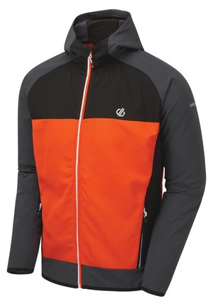 APTILE  - Soft shell jacket - dark grey, orange