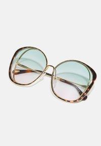 CHLOÉ - Sunglasses - gold-coloured/green - 3