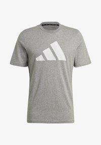 adidas Performance - BADGE OF SPORT - Print T-shirt - grey - 5