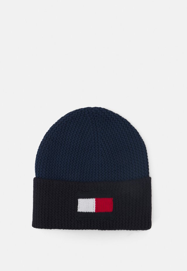 BIG FLAG BEANIE - Mütze - faded indigo