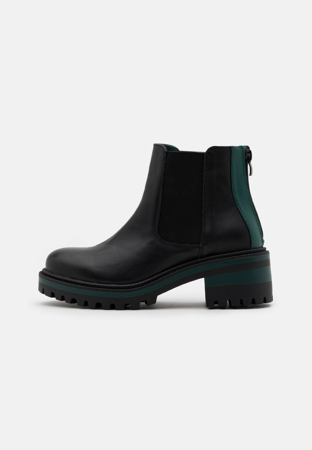Ankle boots - nero/verde