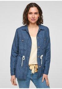 s.Oliver - Denim jacket - mottled dark blue - 5