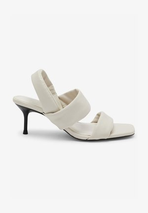 TUBE - High heeled sandals - white
