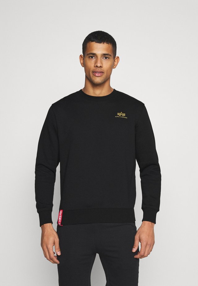 BASIC SMALL LOGO FOIL - Sweater - black/yellow gold