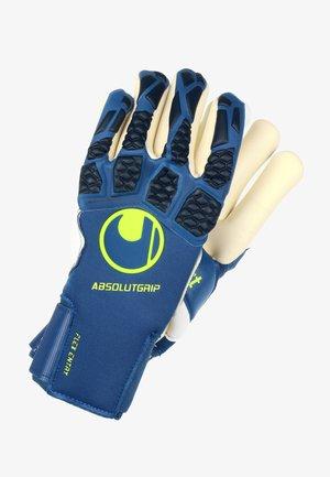 Gloves - night blue / weiss / flou gelb