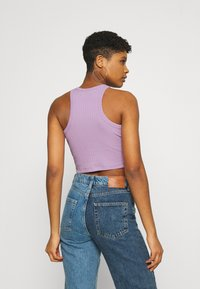 Even&Odd - 2 PACK - Top - black/lilac - 2