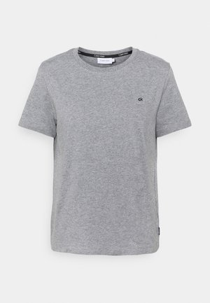 SMALL LOGO EMBROIDERED TEE - T-shirts - mid grey heather