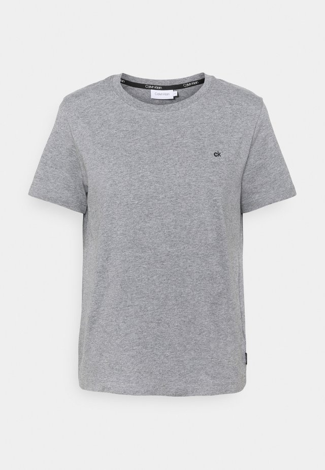 SMALL LOGO EMBROIDERED TEE - Jednoduché triko - mid grey heather