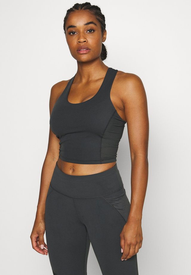 POWER CROPPED WORKOUT VEST - Top - slate grey
