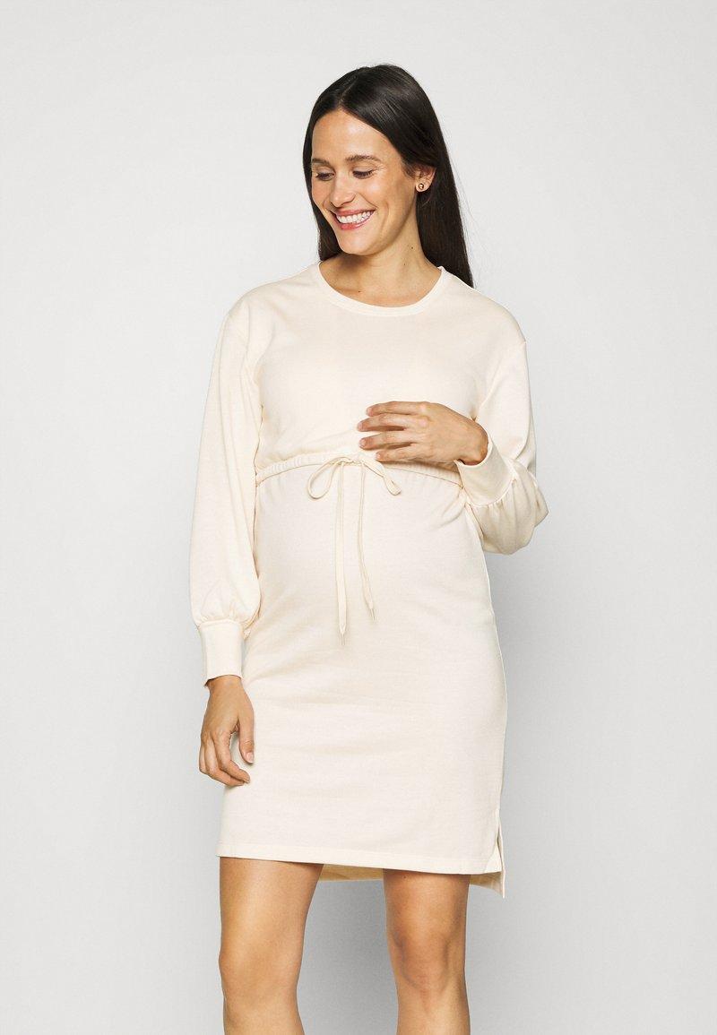 MAMALICIOUS - MLZARINA DRESS - Jersey dress - ecru