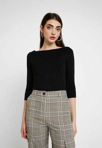 ONLAYA BOATNECK - Long sleeved top - black