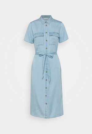 VISABINA BISTA SHIRT DRESS - Denimové šaty - light blue denim