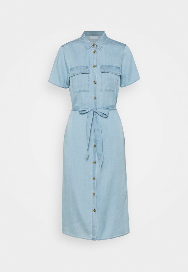 VISABINA BISTA SHIRT DRESS - Dongerikjole - light blue denim