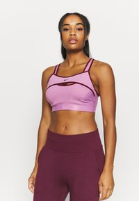 Nike Performance - ALPHA ULTRABREATHE BRA - Sport-BH mit starker Stützkraft - beyond pink/dark beetroot - 0