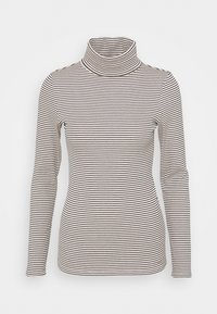 TURTLE NECK - Long sleeved top - small creme navy stripe
