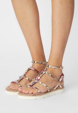 Sandály - laminato rosa/oro