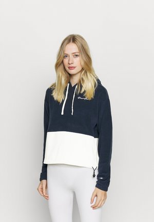 HOODED - Fleecepullover - navy