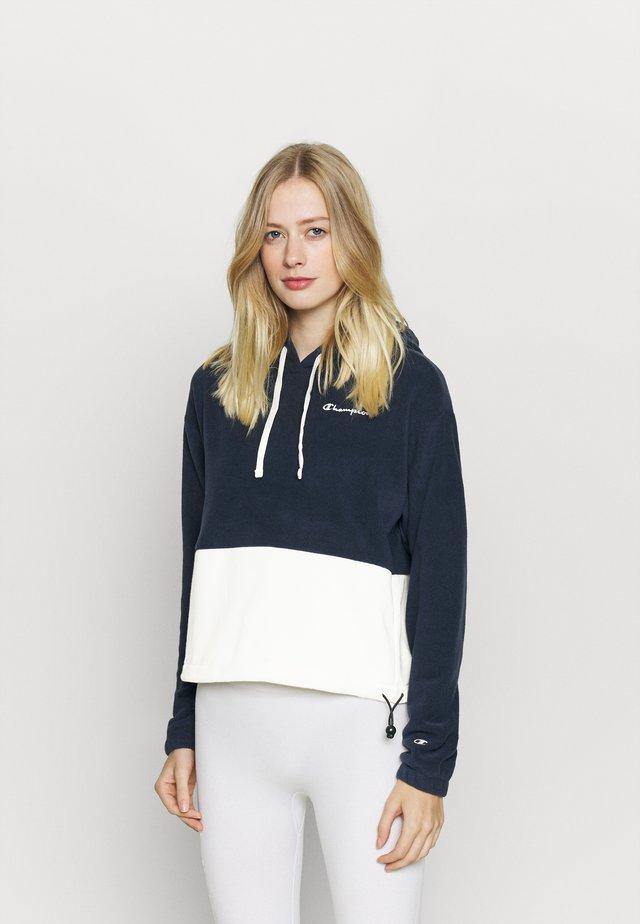 HOODED - Fleece jumper - navy