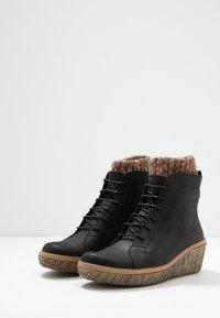 El Naturalista - MYTH  - Wedge Ankle Boots - pleasant black - 4